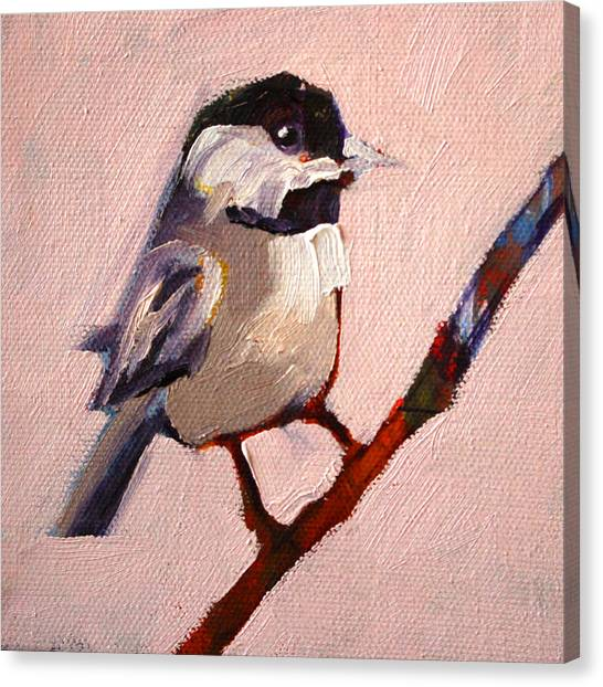 Perching Birds Canvas Print - On A Limb by Nancy Merkle