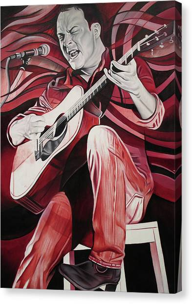 Bartender Canvas Print - Dave Matthews-on Bended Knees by Joshua Morton