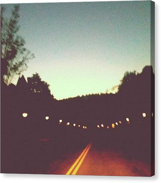 Vermont Canvas Print - On Darkened Streets Tonight I See A by Red Jersey