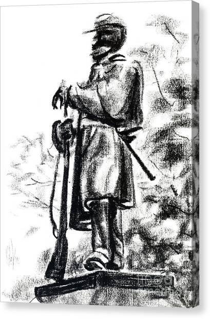 On Duty In Brigadoon  No Ch101 Canvas Print