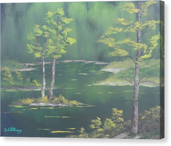 On Emerald Pond Canvas Print