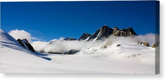 Fox Glacier Canvas Print - On Fox Glacier by Stuart Litoff