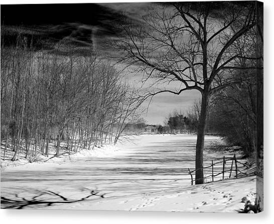On Frozen Pond Canvas Print