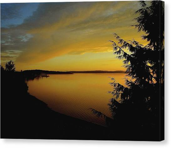 On Golden Puget Sound Canvas Print