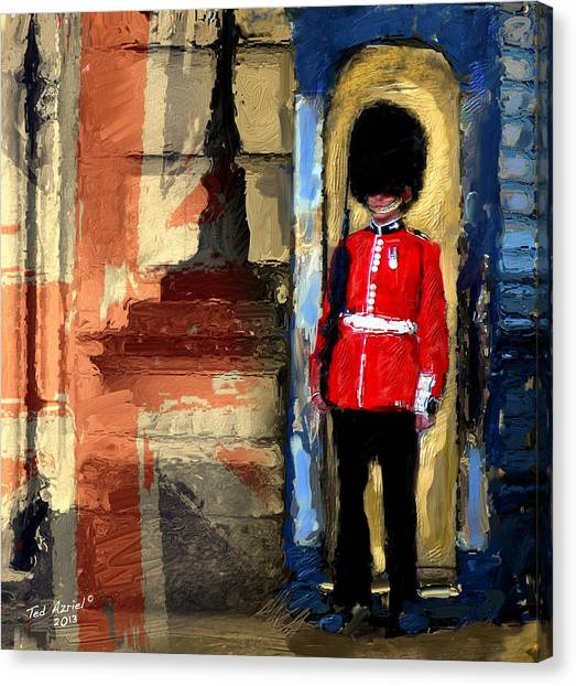 On Guard For Thee Canvas Print