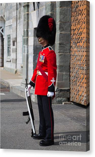 Quebec Canvas Print - On Guard Quebec City by Edward Fielding