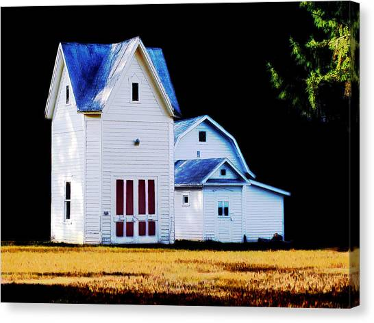 On Hwy B In Ogdensburg Wisconsin Canvas Print