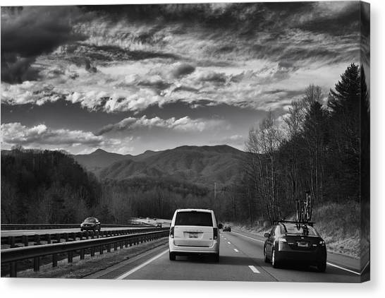 On Interstate 40 West Canvas Print
