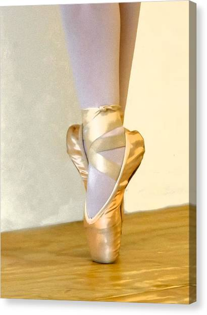 Ballet Toes On Point Canvas Print