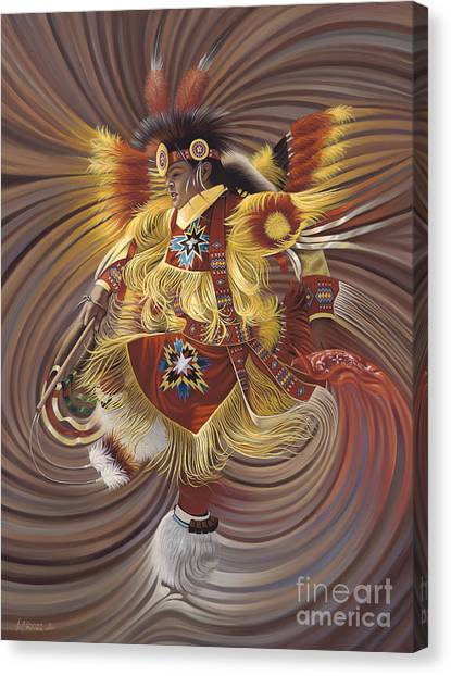 Indians Canvas Print - On Sacred Ground Series 4 by Ricardo Chavez-Mendez