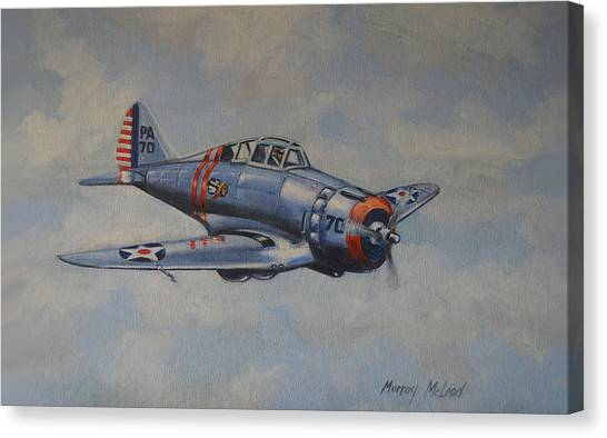 On Silver Wings Canvas Print