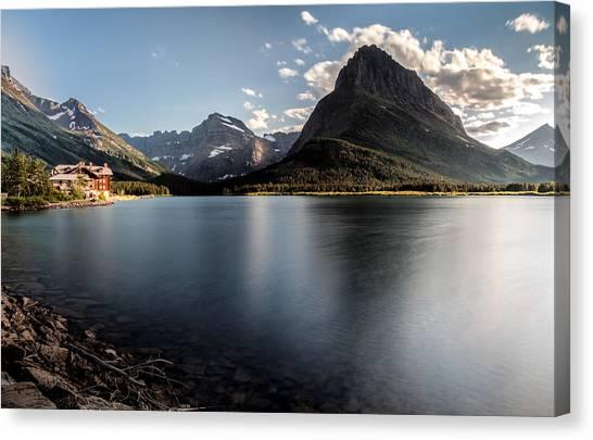 Glacier National Park Canvas Print - On The Edge by Aaron Aldrich