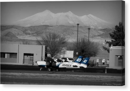 On The Flight Line Below The Volcano Canvas Print