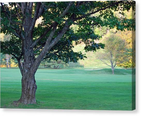 On The Golf Course Canvas Print by Gloria Merritt