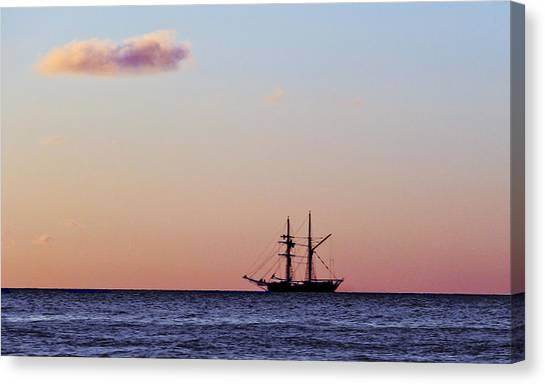 Canvas Print featuring the photograph On The Horizon by Debbie Cundy