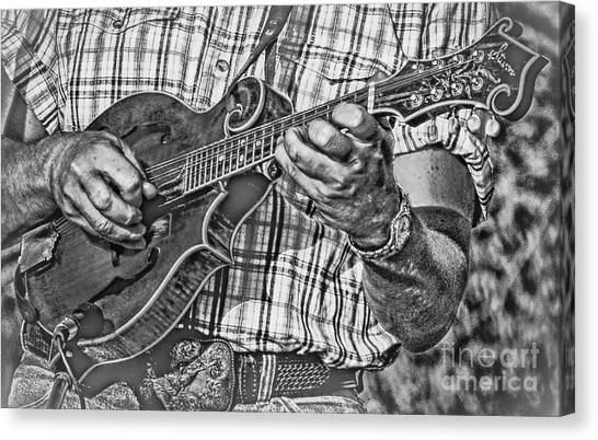 Mandolins Canvas Print - On The Mandolin by Robert Frederick