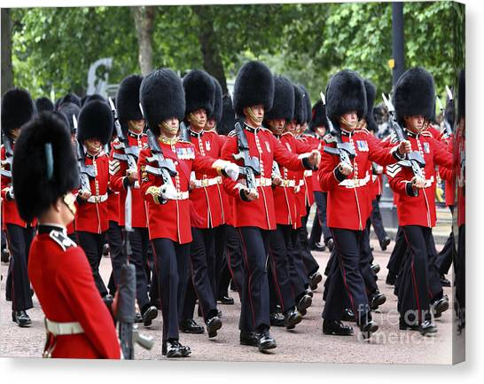 Royal Guard Canvas Print - On The March by James Brunker