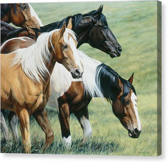 Equestrian Canvas Print - On The Move by JQ Licensing