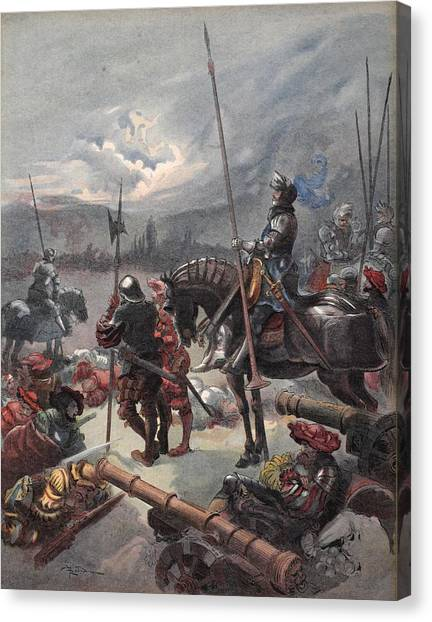 Rulers Canvas Print - On The Night Of Marignan, Illustration by Albert Robida