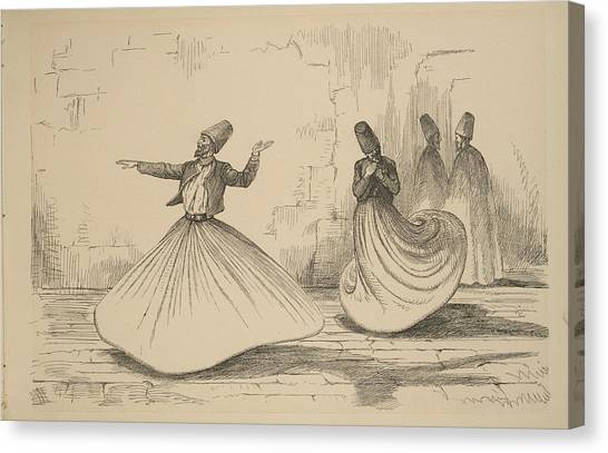 The Nile Canvas Print - On The Nile - Shebook In The Cabin - Whirling Dervish by Celestial Images