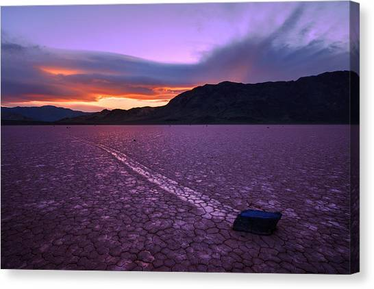 Death Valley Canvas Print - On The Playa by Chad Dutson