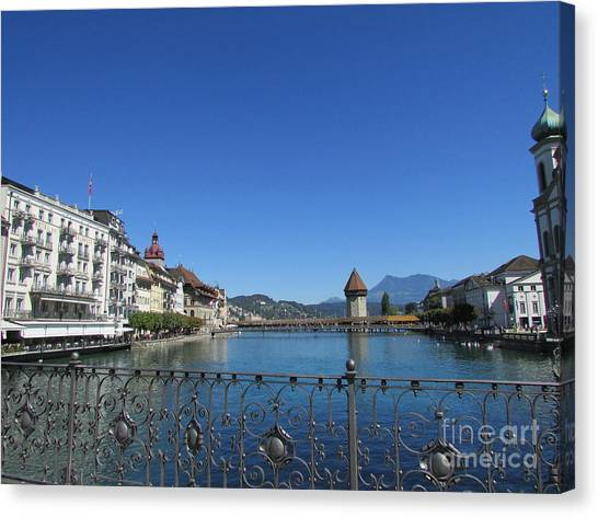 On The Reuss River Canvas Print