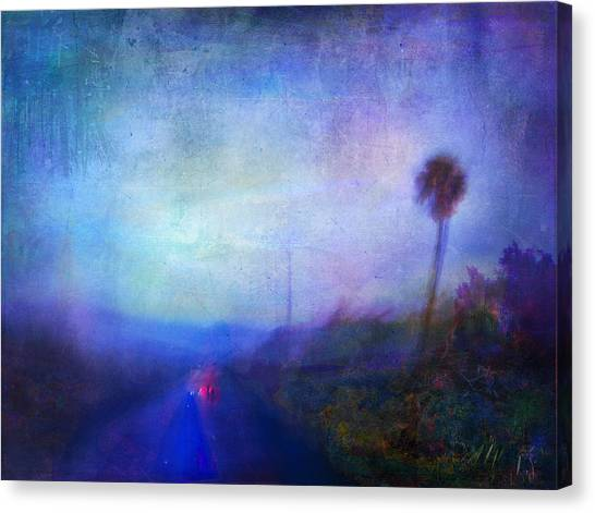 On The Road #18 - Lights In Time Canvas Print