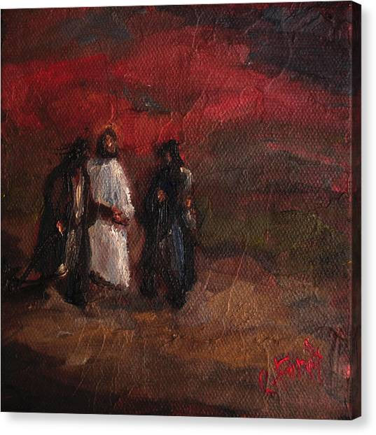 On The Road To Emmaus Canvas Print