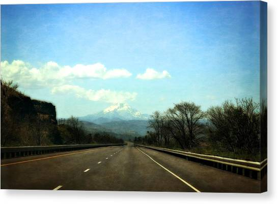 On The Road To Mount Hood Canvas Print