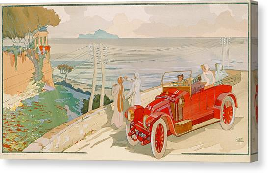 Motoring Canvas Print - On The Road To Naples by Aldelmo