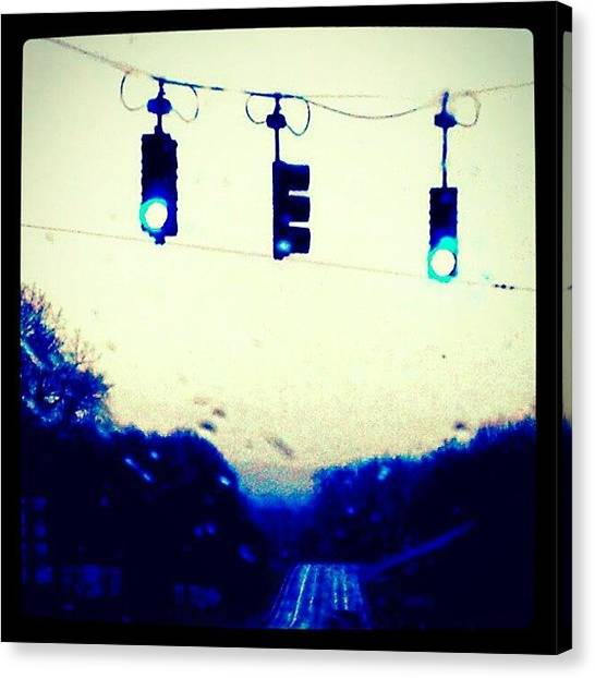 Stoplights Canvas Print - On The Road! #upstate #newyorksky by Joseph Christopher