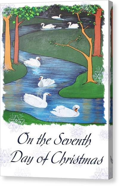 On The Seventh Day Of Christmas Canvas Print