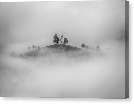 Chapel Canvas Print - On The Top Of The Hill by Peter Svoboda, Mqep