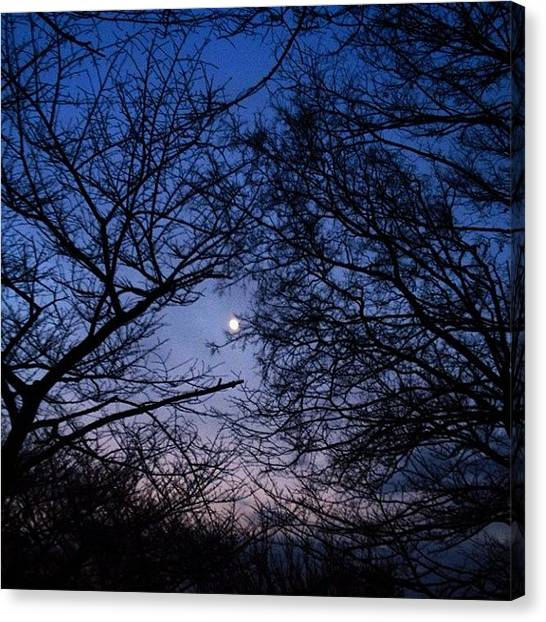 Knockout Canvas Print - On The Way Home.#moon #instagram by Saito Hironobu