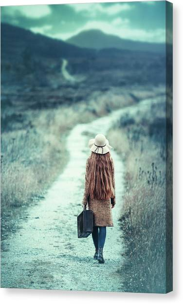 Travel Destinations Canvas Print - On The Way by Magdalena Russocka