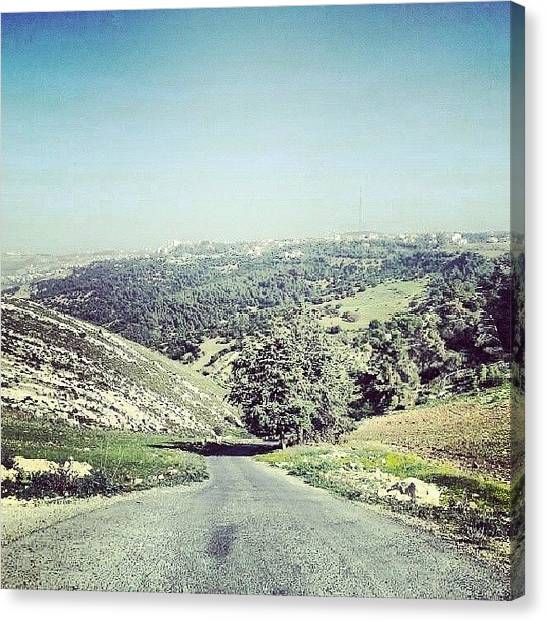 Salt Canvas Print - On The Way To Salt #jordan #amman by Abdelrahman Alawwad
