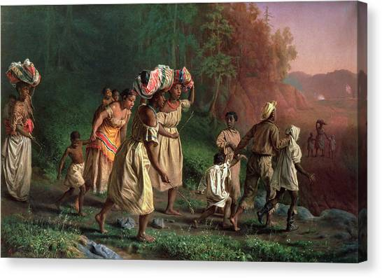 Slavery Canvas Print - On To Liberty, 1867 by Theodor Kaufmann