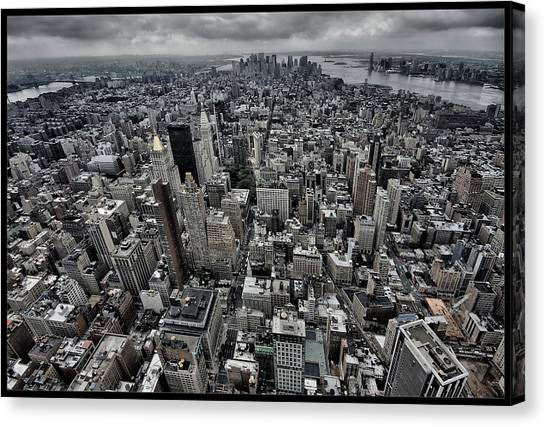 View Canvas Print - On Top by Klaus Ratzer