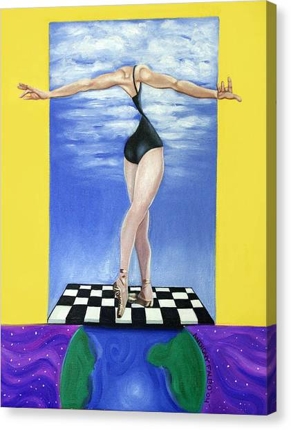 Acrylic On Canvas Print - On Top Of The World by Anthony Falbo