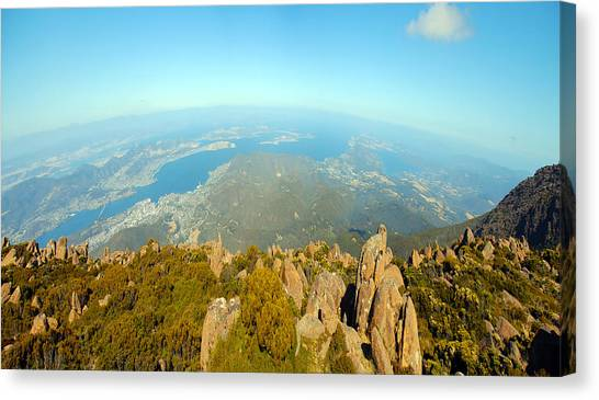 On Top Of The World Tasmania Canvas Print