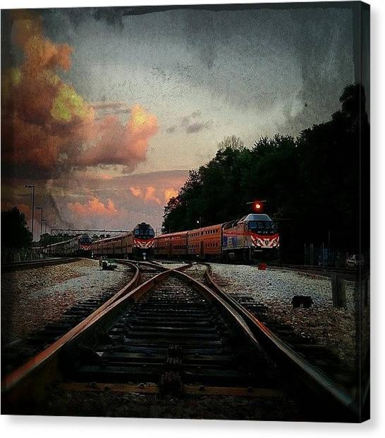 Light Rail Canvas Print - On Track  by Jenny Moran