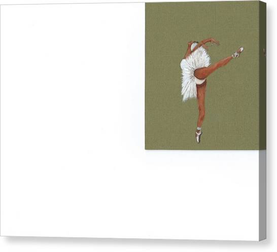 On Your Toes Canvas Print by Catherine Swerediuk