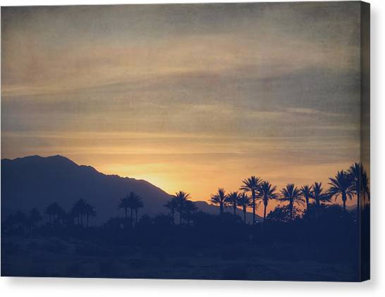 Desert Sunset Canvas Print - Once Again by Laurie Search