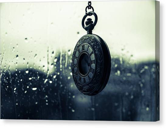 Once - A Vintage Watch Canvas Print by Andrea Mazzocchetti