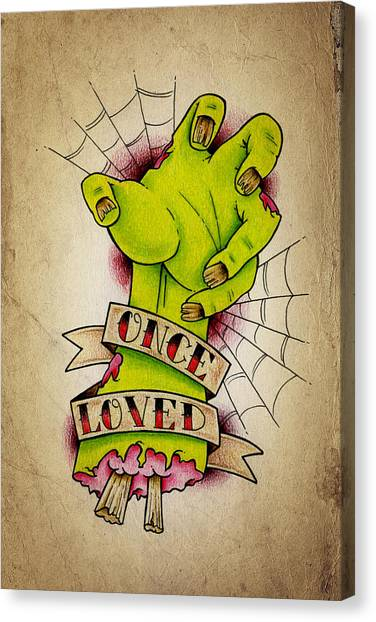 Tattoo Canvas Print - Once Loved by Samuel Whitton