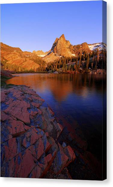 Wasatch Mountains Canvas Print - Once Upon A Rock by Chad Dutson