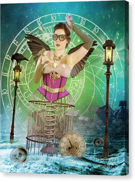 Futurism Canvas Print - Once Upon A Time by Juli Scalzi