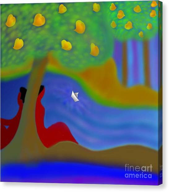 Mango Tree Canvas Print - Once Upon A Time by Latha Gokuldas Panicker
