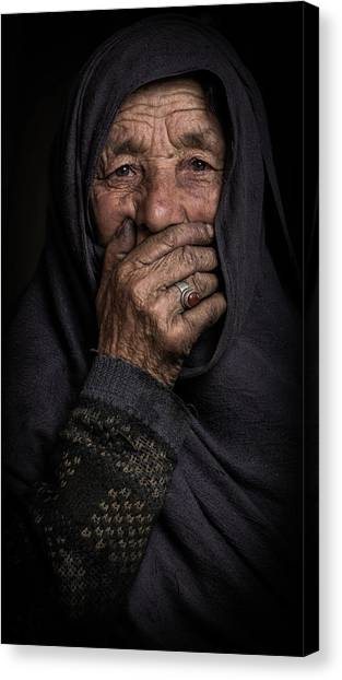 Lady Canvas Print - Once Upon A Time by Natheer Osaif