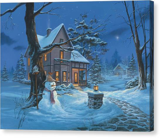 Once Upon A Winter's Night Canvas Print